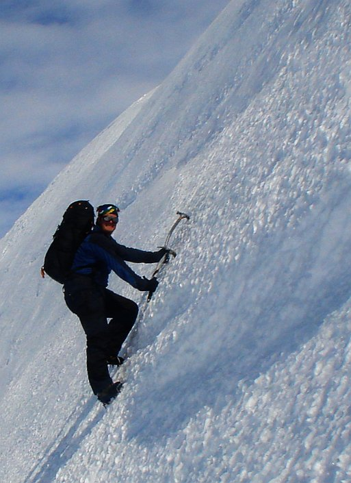Ice Climbing in the Windscoop at Knotten