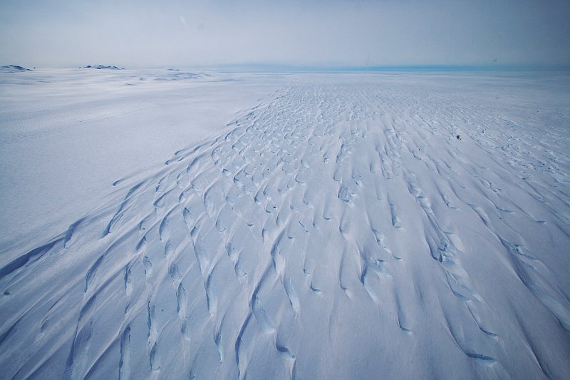 Juttelstraumen Glacier from the air