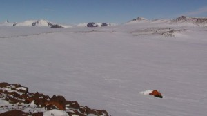 Field camp at Flarjuven Nunatak